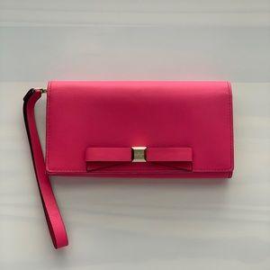 Kate Spade Pink Bow Wristlet